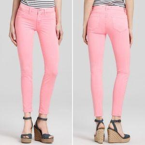 J Brand 811 Skinny Jeans in Neon Coral, Sz 25